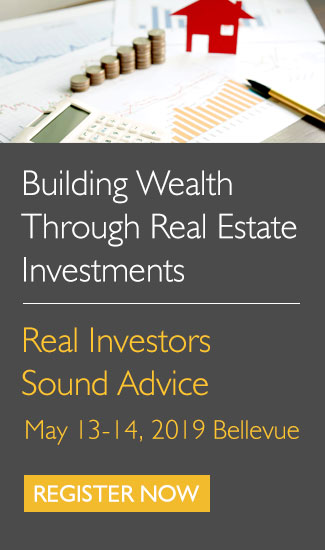 Building Wealth Through Real Estate, May 13-14 in Bellevue, click to register
