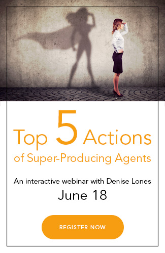 Webinar: Top 5 Actions of Super-Producing Real Estate Agents, click to learn more